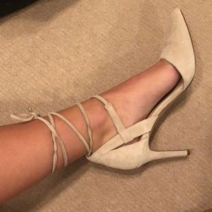 Vince Camuto strappy suede heels worn once